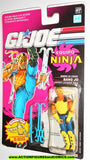 gi joe T'JBANG 1992 v1 ninja force BANG JO SPANISH CARD moc
