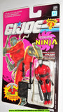gi joe SLICE 1991 v1 ninja force AFILADO SPANISH CARD moc