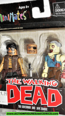 Walking Dead Minimates GOVERNOR JAW ZOMBIE Series 4 2013 moc