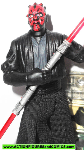 star wars action figures DARTH MAUL sith lord 1999 episode I 1 complete hasbro toys