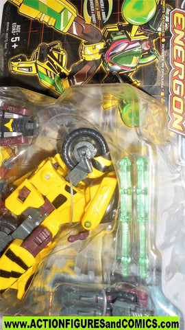 transformers energon RAPID RUN yellow motorcycle headmaster armada sideways moc