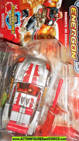 transformers energon HOT SHOT 2004 silver red repaint moc