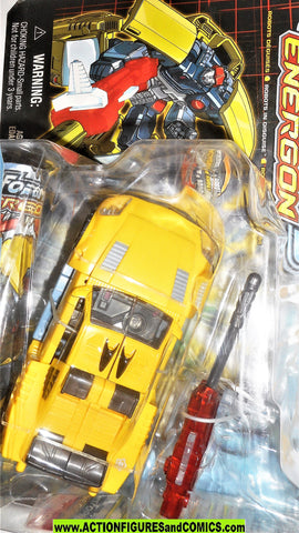 transformers energon HOT SHOT 2003 yellow original hotshot rod moc