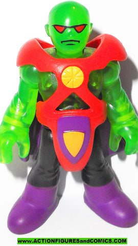 DC imaginext MARTIAN MANHUNTER tranlucent green clear variant justice league