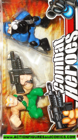 gi joe combat heroes DUKE vs COBRA TROOPER 2008 pvc action figures moc