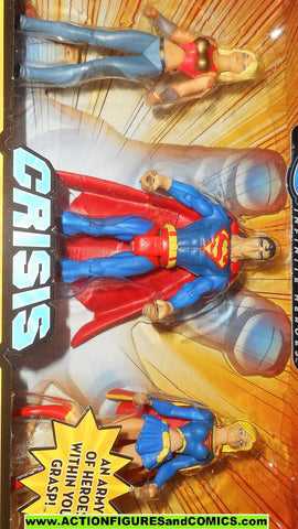 dc universe infinite heroes THREE PACK 3 superman supergirl wonder girl moc mib