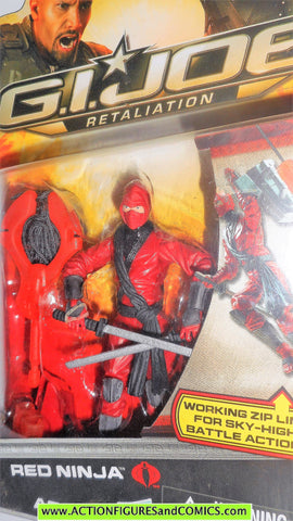 gi joe RED NINJA retaliation movie 2013 complete action figure MOC