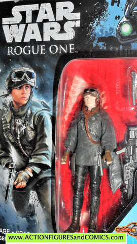 star wars action figures JYN ERSO helmet rogue one movie moc