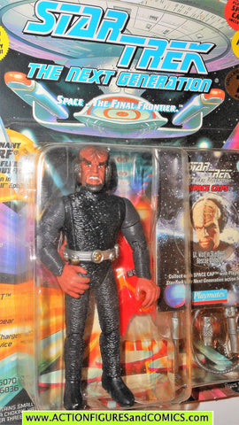 Star Trek WORF starfleet rescue uniform next generation playmates moc