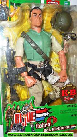 Gi joe SGT AIRBORNE 2003 12 inch KB Toys exclusive spy troops