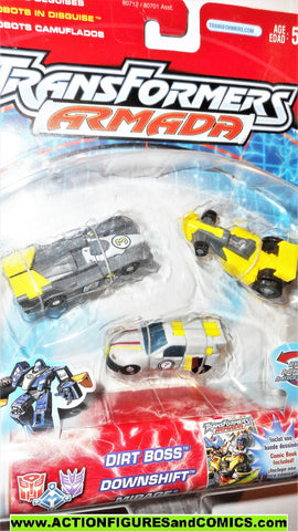 Transformers armada RACE TEAM SKYBOOM shield 2002 mini con cons moc