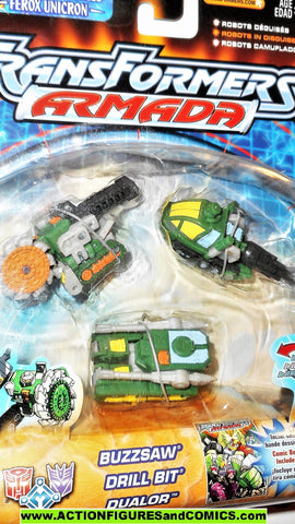 Transformers armada ROAD WRECKER Destruction TEAM green 2002 mini con cons moc