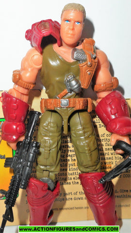 gi joe GRUNT v8 2003 cobra claws disguise spytroops complete w file card