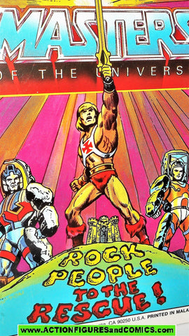 Masters of the Universe ROCK PEOPLE to the RESCUE 1985 vintage mini comic He-man