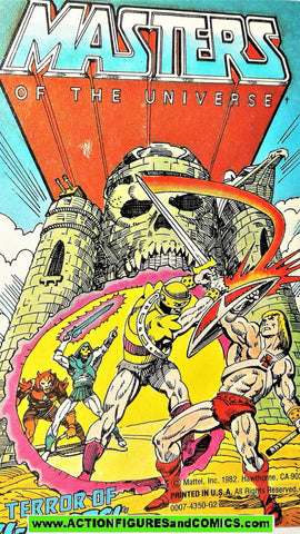 Masters of the Universe TERROR of TRI KLOPS 1982 vintage mini comic He-man