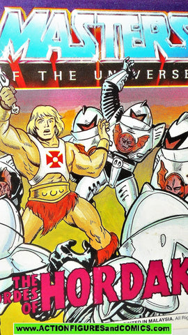 Masters of the Universe HORDES of HORDAK trooper 1986 vintage mini comic He-man