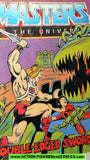 Masters of the Universe DOUBLE EDGED SWORD 1984 vintage mini comic He-man
