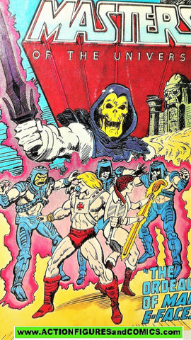 Masters of the Universe ORDEAL of MAN-E-FACES vintage mini comic He-man