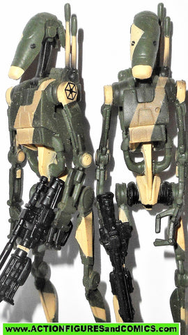 star wars action figures BATTLE DROID JUNGLE green camo kasyyyk 2006 Saga