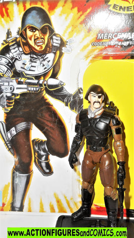 gi joe MAJOR BLUDD 2008 v8 trooper 25th anniversary complete w full card
