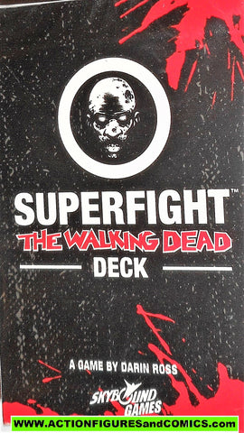 The Walking Dead CARD GAME SUPERFIGHT Deck 100 cards skybound moc