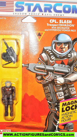 Starcom CPL SLASH 1986 Coleco shadow force enemy gi joe moc