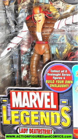marvel legends LADY DEATHSTRIKE x-men wolverine onslaught series toybiz moc