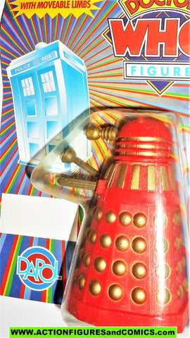 doctor who action figures DALEK dapol RED GOLD vintage dapol 1987 moc 224