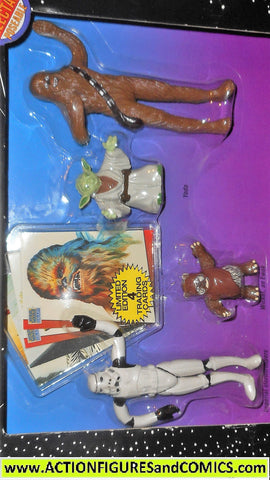 star wars action figures bend-ems 4 PIECE GIFT SET trading cards 1993 moc mib