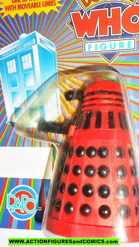 doctor who action figures DALEK dapol RED BLACK vintage dapol 1987 moc