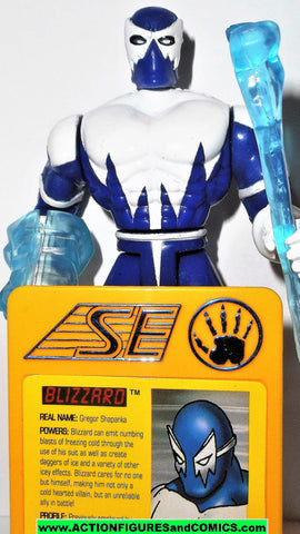 Iron man BLIZZARD 1995 marvel universe animated action hour toy biz figures
