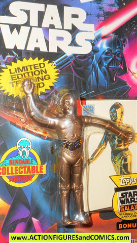 star wars action figures bend-ems C-3PO 1993 trading card moc mip mib