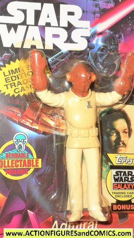 star wars action figures bend-ems ADMIRAL ACKBAR 1994 1st card moc