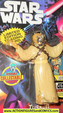 star wars action figures bend-ems TUSKEN RAIDER 1993 1st card moc