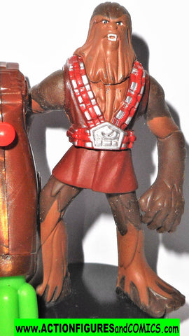 Attacktix Star Wars WOOKIEE CAPTAIN 11/2 warrior action figures 2005