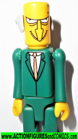 Simpsons MR BURNS playmates blocko minimates kubrick style complete