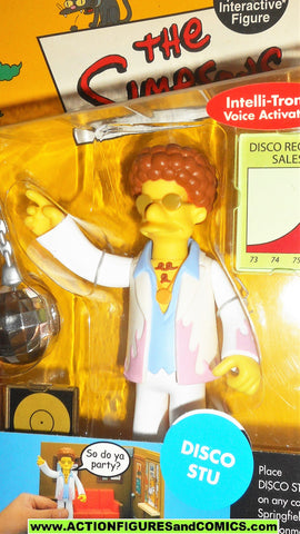 Simpsons DISCO STU 2002 World of Springfield playmates moc