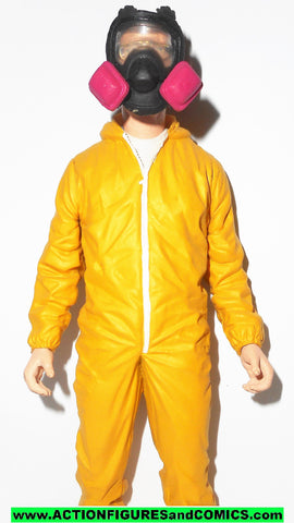 Breaking Bad WALTER WHITE yellow hazmat suit Cook mezco toys 2014