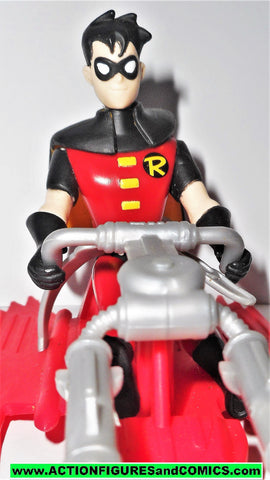 batman animated series ROBIN crime fighter red sled dc action figures