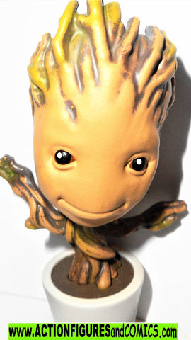 Marvel metals die cast GROOT Baby plant pot 4 inch Jada toys