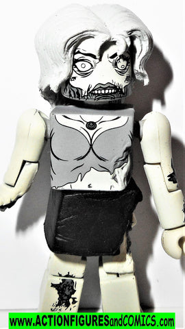 minimates FEMALE ZOMBIE the walking dead black white amc tv show