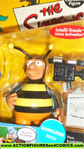 simpsons BUMBLEBEE MAN 2002 playmates world of springfield wos moc