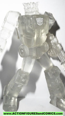 Transformers pvc CHROMEDOME HEADMASTER clear heroes of cybertron scf