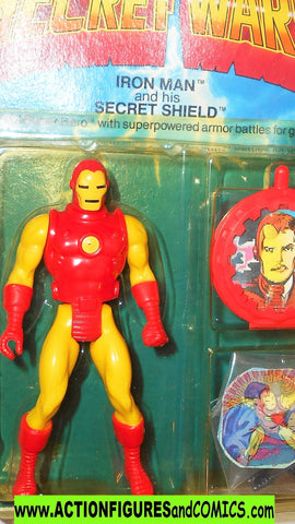 secret wars IRON MAN vintage 1984 complete in OPENED package moc