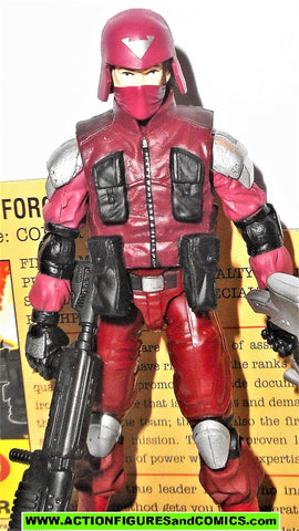gi joe COBRA OFFICER 2009 v10 Resolute Crimson Red Complete gijoe