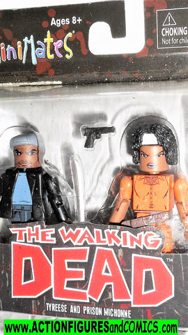 minimates TYREESE PRISON MICHONNE the walking dead moc