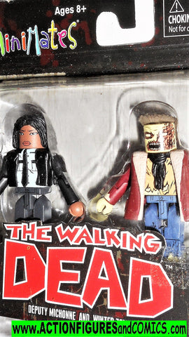 minimates MICHONNE deputy WINTER ZOMBIE the walking dead moc