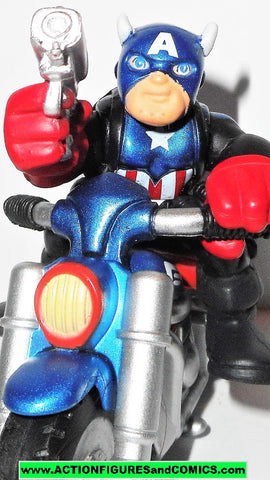 Marvel Super Hero Squad CAPTAIN AMERICA bucky motorcycle cycle wave 18 universe