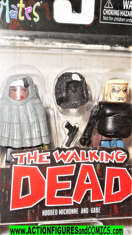 minimates MICHONNE Hooded GABE the walking dead moc