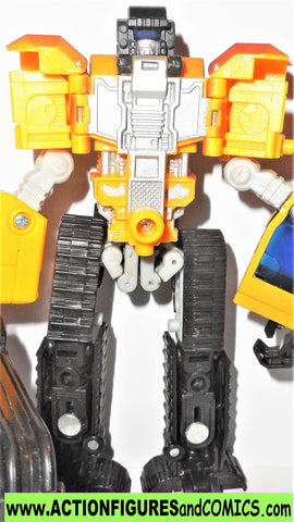 Transformers RID GRIMLOCK 2001 YELLOW Landfill Combiner Robots in Disguise